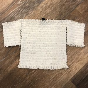 Off The Shoulder Synched Tube Top